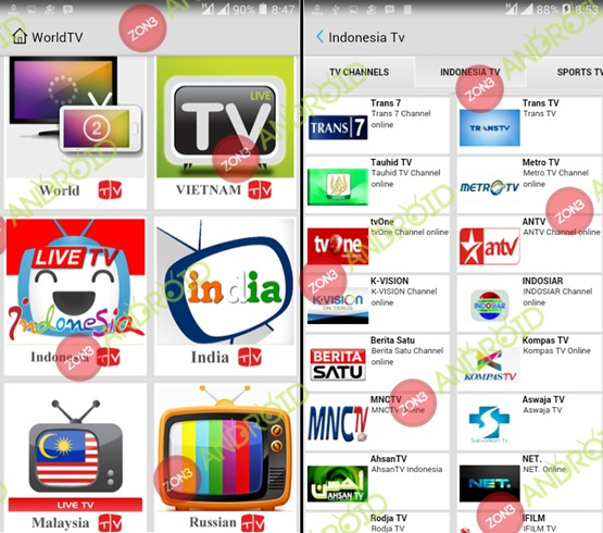 Live TV zon3-android 1