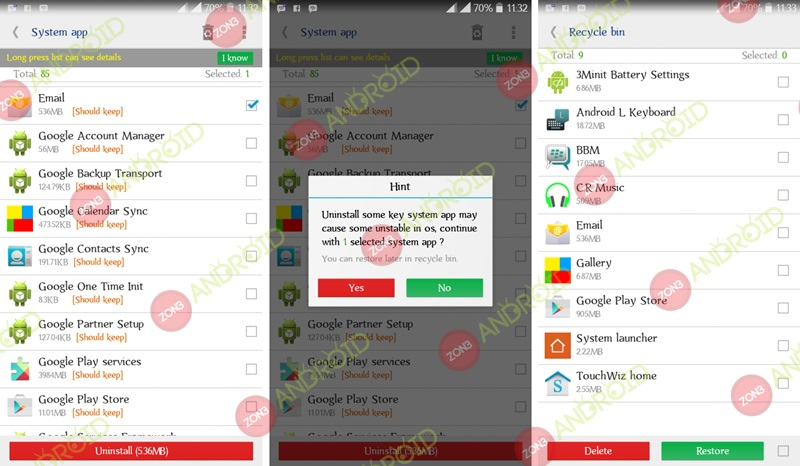 System App Remover zon3-android