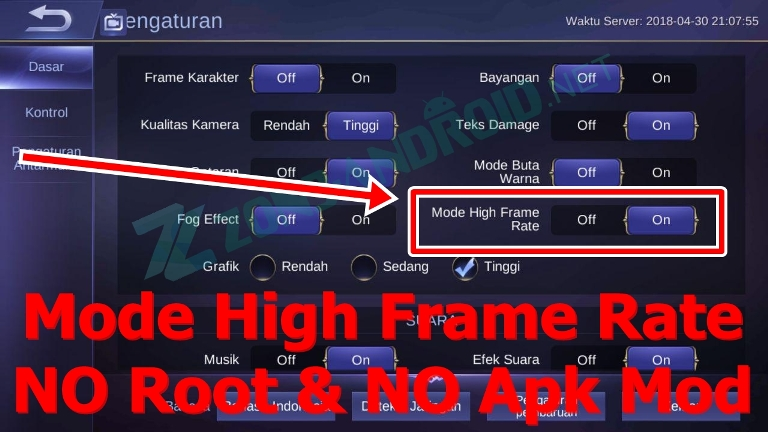 Cara Mobile Legends Mode High Frame Rate Tanpa Root Dan Apk Mod